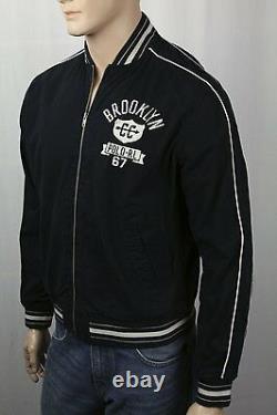 Polo Ralph Lauren Black Brooklyn Varsity Jacket NWT $198