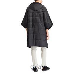 Polo Ralph Lauren Black Snow Beach CP93 Down Puffer Snowboard Poncho Jacket Coat
