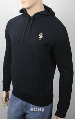 Polo Ralph Lauren Black Tuxedo Martini Teddy Bear Hoodie Pullover Sweatshirt NWT