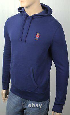 Polo Ralph Lauren Blue Preppy Teddy Bear Hoodie Pullover Sweatshirt NWT