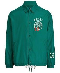 Polo Ralph Lauren Boosters Tiger Jacket Vintage Stadium Varsity Coaches NWT XL