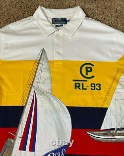 Polo Ralph Lauren CP-93 Shirt MENS L LARGE Regatta Sailing Crest Capsule Limited