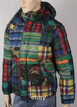 Polo Ralph Lauren Camo Patchwork Down Puffer Coat Ski Nwt $398