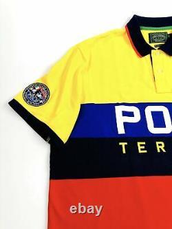 Polo Ralph Lauren Classic Fit Polo Terrain Yellowfin Multi Rugby Mesh Polo Shirt