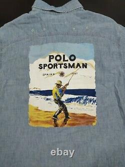Polo Ralph Lauren Classic Fit Sportsman Denim Long-Sleeve Button-Down Shirt