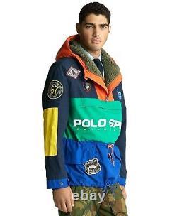 Polo Ralph Lauren Colorblocked Sportsman Patchwork Pullover Hood Jacket Mountain