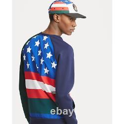 Polo Ralph Lauren Cookie Ski Downhill Skier 92 American Flag Sweater Sweatshirt