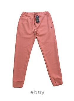 Polo Ralph Lauren Double Knit Tracksuit Hoodie Jogger Pink Coral NWT Mens XXL