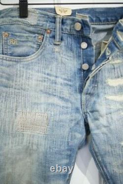 Polo Ralph Lauren Double Rl Rrl Boyfit Boy Fit Distressed Denim Jeans $360+