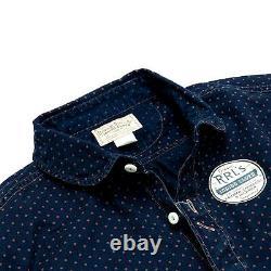 Polo Ralph Lauren Double Rl Rrl Japanese Indigo Dot Connor Railman Work Shirt