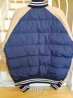 Polo Ralph Lauren Down Bomber Patch Letterman Varsity Jacket Mens Size Medium