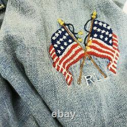 Polo Ralph Lauren Flag Western Patchwork Denim Button Down Shirt Ltd Edition NWT