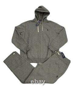 Polo Ralph Lauren Fleece Tracksuit Hoodie Joggers Grey New WithTags Mens XL