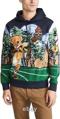 Polo Ralph Lauren Football Rugby Kicker Bear Hoodie Sweatshirt Sweater Mens M