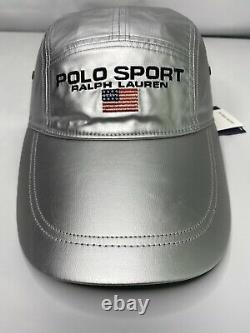 Polo Ralph Lauren Hat Cap Polo Sport LTD Silver LongBill OS P-Wing Stadium NWT