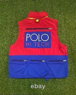 Polo Ralph Lauren Hi Tech Vest Stadium Pwing 1992 93 Crest Ski Snow Beach Sz M