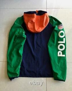 Polo Ralph Lauren Hoodie Jacket P wing Stadium 1992 Snow Beach Ski Hi tech CP 93