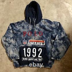 Polo Ralph Lauren Indigo Stadium Popover Jacket Large BNWT pullover p wing 1992