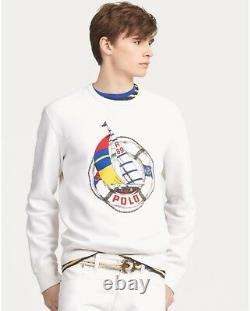 Polo Ralph Lauren Life Saver Print Regatta CP-93 Cross Flags L Crest, Stadium
