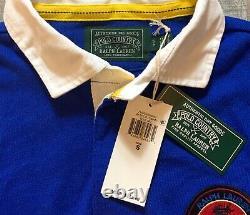 Polo Ralph Lauren Long Sleeve Sportsman Patch Rugby Shirt Colorblock Men S XXL