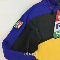 Polo Ralph Lauren Men 92 Racing Color Block Fleece Sweatshirt Hi Tech XXL 2XL