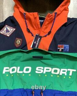 Polo Ralph Lauren Men Colorblock Anorak Jacket Ski Stadium Sportsman 92 Sizes