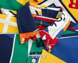 Polo Ralph Lauren Men Royal Flags Nautical Regatta Sailing Shirts CP 93 Stadium