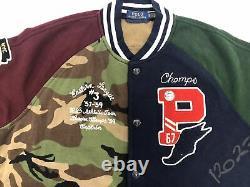 Polo Ralph Lauren Men's 67 Baseball Varsity Letterman Jacket Tiger Patchwork