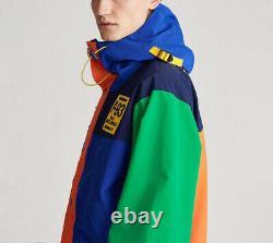 Polo Ralph Lauren Men's Blue Multi RLPC Graphic Water-Repellent Hooded Jacket