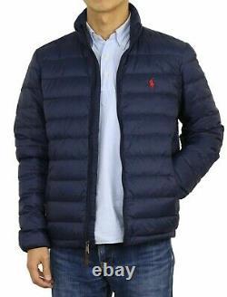 Polo Ralph Lauren Men's Down Pony Full Zip Packable Jacket Navy Size L NWT