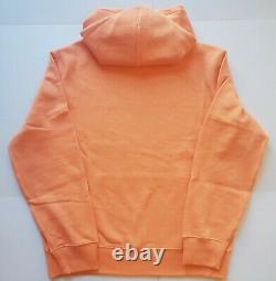Polo Ralph Lauren Men's Fleece Graphic Pullover Hoodie, Orange Multi, Size L