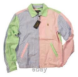 Polo Ralph Lauren Men's Lightweight Striped Bayport Fun Windbreaker Jacket