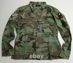 Polo Ralph Lauren Military Army Camo Officer Chevron Soldier Camp Shirt Jacket