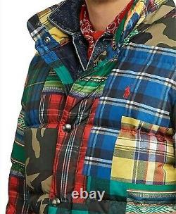 Polo Ralph Lauren Military US Army Camo Southwestern Aztec Patchwork Down Jacket