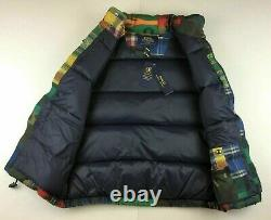 Polo Ralph Lauren Military USA Camo Southwestern Patchwork Down Jacket Vest Men