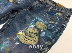 Polo Ralph Lauren Paint Artwork Artist Rip Shred Distress Astor Boyfriend Jeans