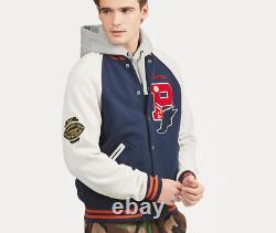 Polo Ralph Lauren Patch P Wing Baseball Bulldog Varsity Letterman Stadium Jacket