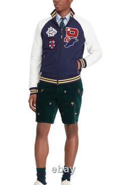 Polo Ralph Lauren Patch P Wing Baseball Crest Varsity Letterman Stadium Jacket
