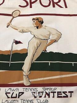 Polo Ralph Lauren Polo Sport Tennis Cup Contest LARGE STADIUM NWT 1992 CASINO