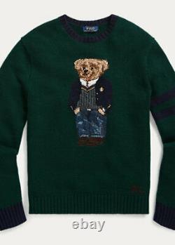 Polo Ralph Lauren Preppy Bear Wool Sweater in Forrest St Andrew Bear Size L