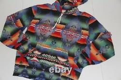 Polo Ralph Lauren Pullover Hoodie Indian Patterned French Terry southwestern S