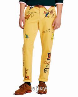 Polo Ralph Lauren Retro P Wing Artwork Graffiti Cartoons Preppy Corduroy Pants