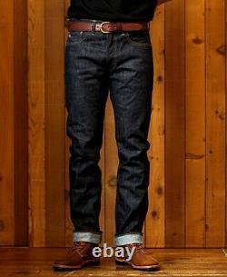 Polo Ralph Lauren Rrl Blue Raw Rigid Slim Fit Japanese Selvedge Denim Jeans $340