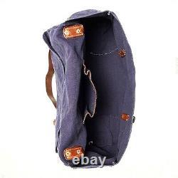 Polo Ralph Lauren Rrl Indigo Canvas Leather Messenger Eastport Maritime Bag $395
