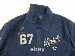Polo Ralph Lauren Spartan Corduroy Letterman Varsity Jacket Stadium 1992 Bear L
