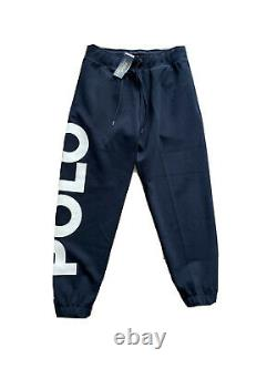 Polo Ralph Lauren Spell Out Double Knit Tracksuit Navy New WithTags Mens L