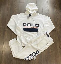 Polo Ralph Lauren Spell Out Mesh Tracksuit White New WithTags Mens M