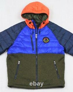 Polo Ralph Lauren Sportsman Hybrid Puffer Down Hooded Jacket Coat XL $398
