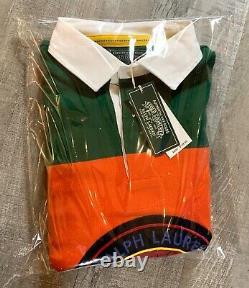 Polo Ralph Lauren Sportsman Patch Long Sleeve Rugby Shirt Colorblock Mens S M L