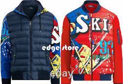 Polo Ralph Lauren Suicide Downhill Skier Ski 92 Down Jacket Snow Beach Stadium